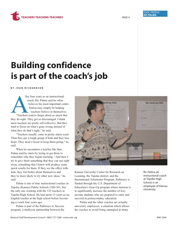 Nsdc Profile Ric Palma Building Confidence Is Part Of The Coachs