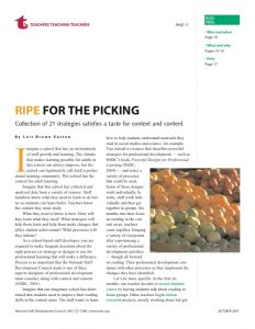 NSDC tool: Ripe for the picking: Collection of 21 strategies