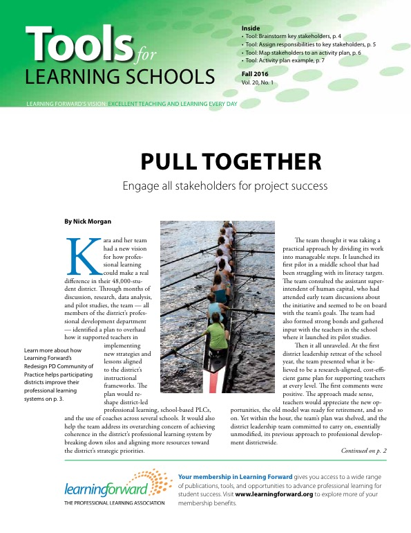 Learning Forward's Tools for Learning Schools