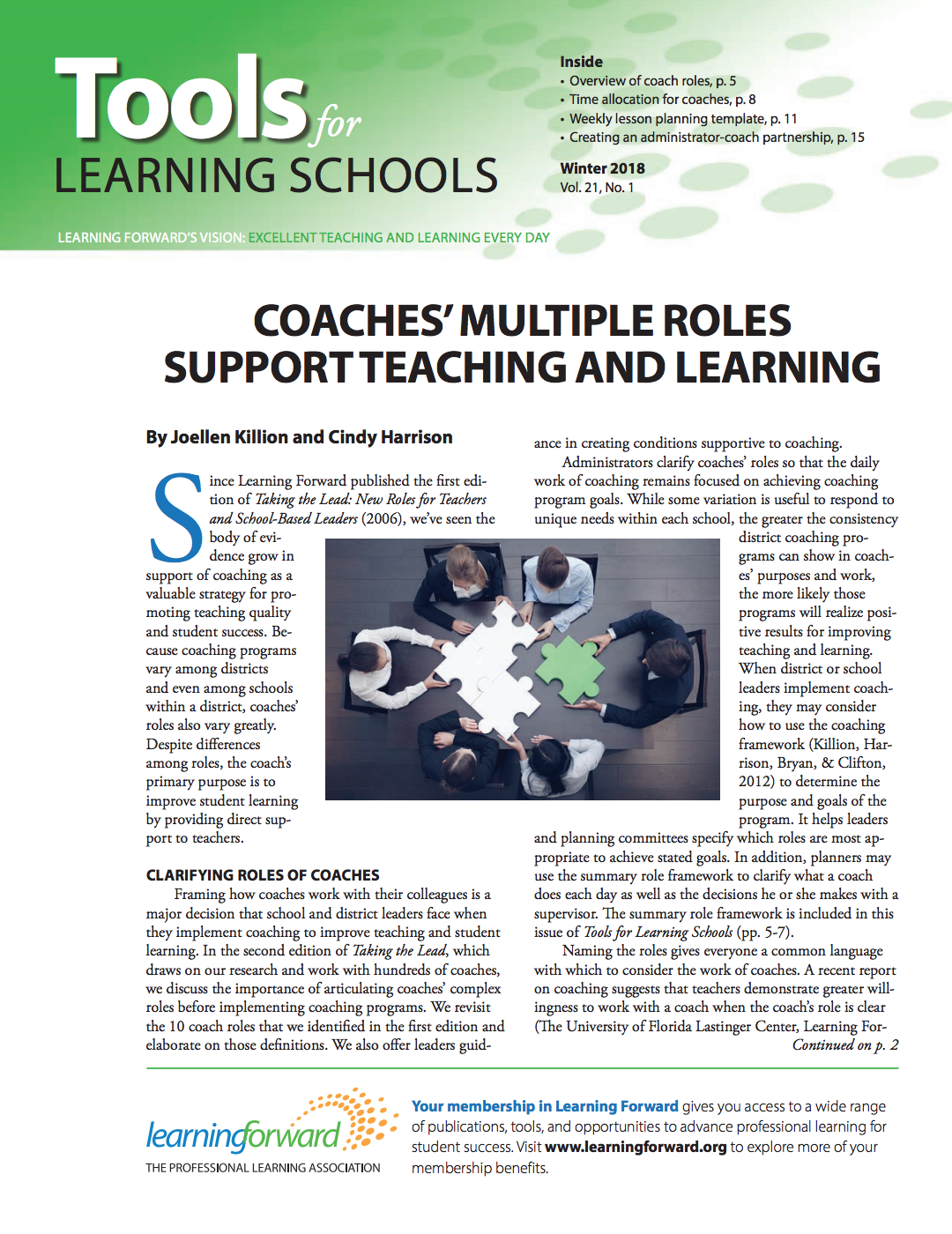 Tools For Learning Schools Winter 2018 Vol 21 No 1