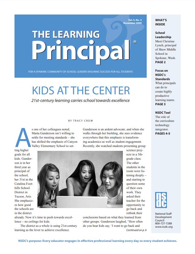 The Learning Principal, November 2009, Vol. 5, No. 3