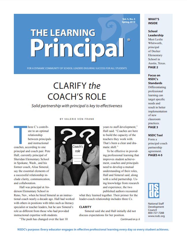 The Learning Principal, Spring 2010, Vol. 5, No. 5