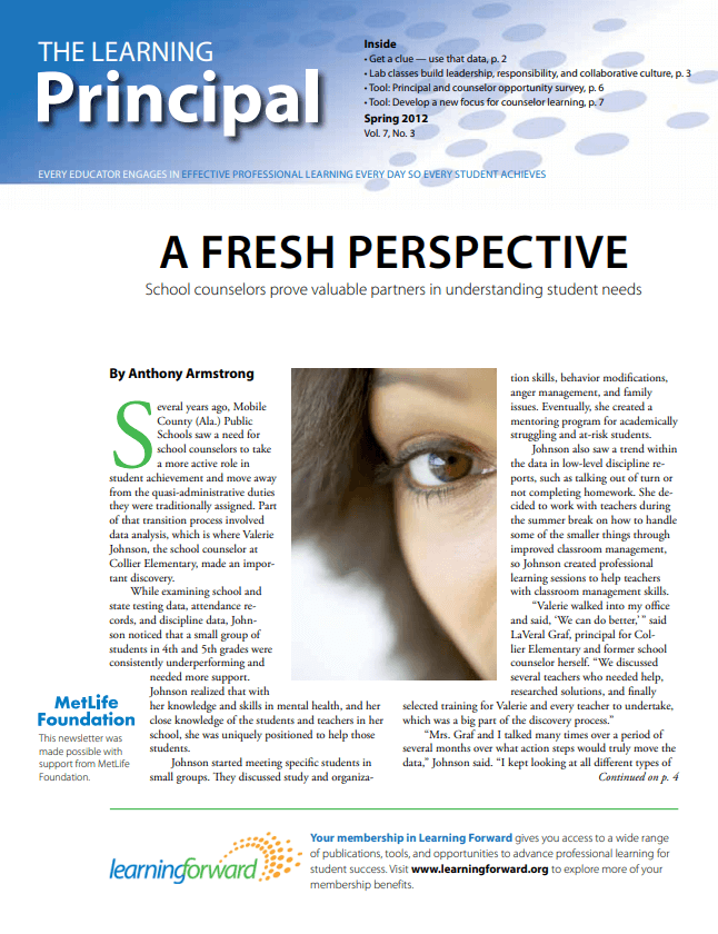 The Learning Principal, Spring 2012 , Vol. 7, No. 3