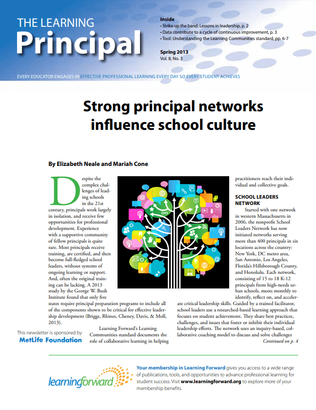 The Learning Principal, Spring 2013, Vol. 8, No. 3