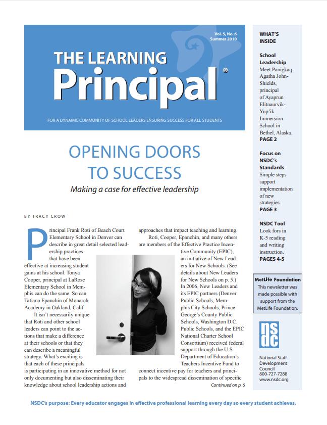 The Learning Principal, Summer 2010, Vol. 5, No. 6
