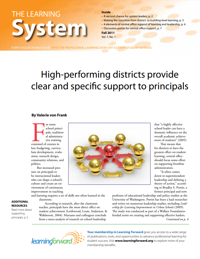 The Learning System, Fall 2011, Vol. 7, No. 1