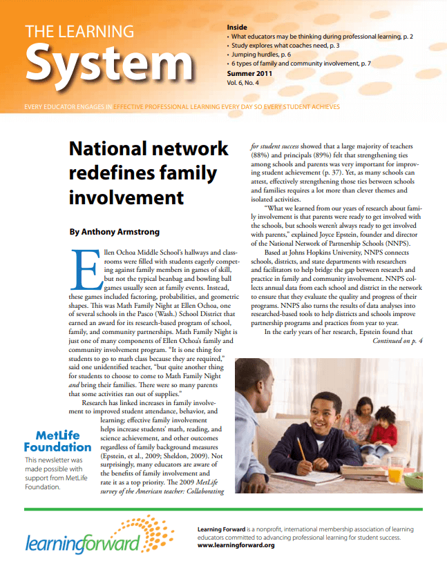 The Learning System, Summer 2011, Vol. 6, No. 4