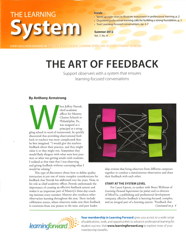 The Learning System, Summer 2012, Vol. 7, No. 4