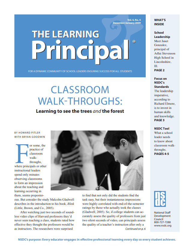 The Learning Principal, December-January 2009, Vol. 4, No. 4