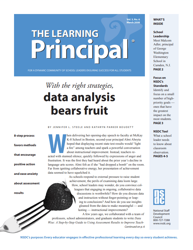 The Learning Principal, March 2008, Vol. 3, No. 6