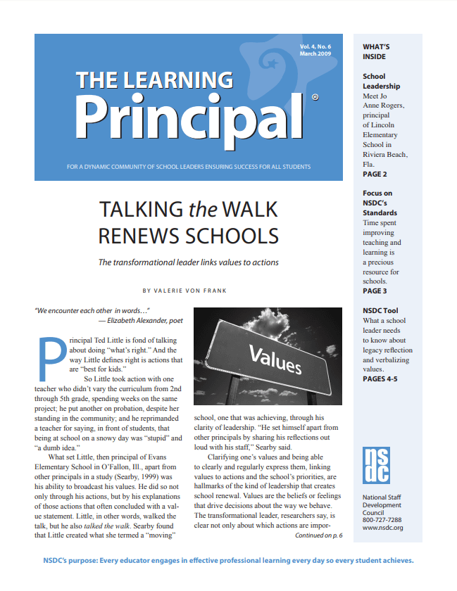 The Learning Principal, March 2009, Vol. 4, No. 6