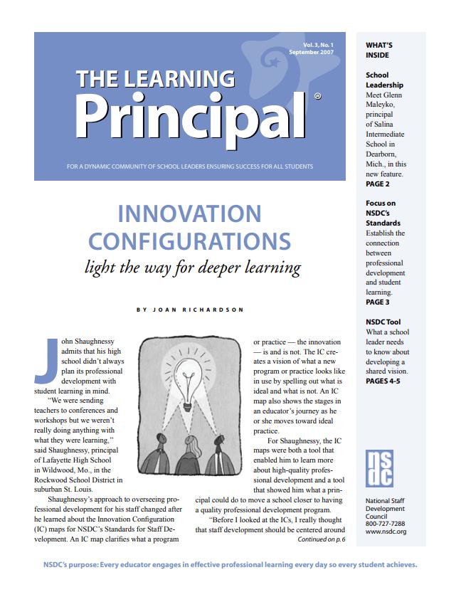 The Learning Principal, September 2007, Vol. 3, No. 1