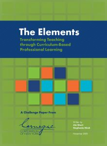 The Elements: Transforming Teaching through Curriculum-Based Professional Learning
